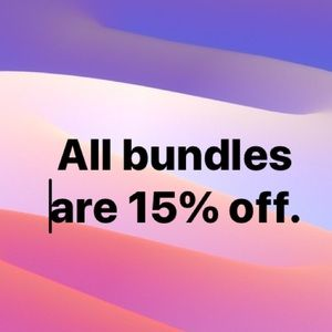 PSA: All bundles are 15% off